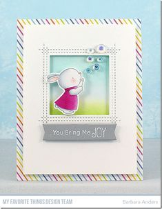 Stamps: Bubble over with Joy  Die-namics: Bubble over with Joy, Square Peek-a-Boo Window    Barbara Anders  #mftstamps
