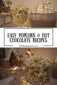 easy popcorn and hot chocolate recipes