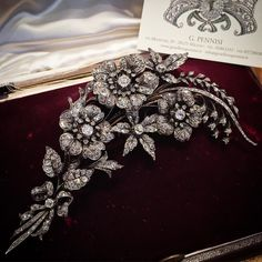 19th century diamond spray brooch