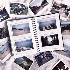 New Travel Journal Pictures Scrapbook Layouts Ideas Photo Polaroid, Polaroid Pictures, Polaroid Camera, Mini Camera, Photowall Ideas, Ideias Diy, Scrapbook Journal, Scrapbook Layouts, Diy Scrapbook Album Ideas