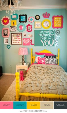 bright colors for a cowgirl room, but love it