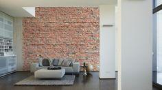 Architects Paper Fototapete Ziegel 4 470437; simuliert auf der Wand