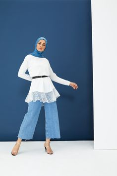 The perfect addition to any Muslimah outfit, shop Rabia Z X Modanisa's stylish Muslim fashion Ecru - Crew neck - Cotton - Tunic. Find more Tunic at Modanisa! Muslim Fashion, Modest Fashion, Cotton Tunics, Crew Neck, Diamonds, Bell Sleeve Top, Women Wear, Stylish, Womens Fashion