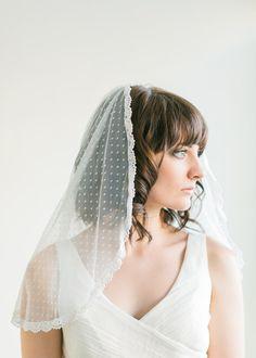 Dotted Lace Veil Mantilla Veil Wedding Veil by MelindaRoseDesign, $155.00
