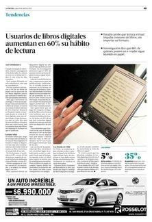Usuarios de libros digitales aumentan en 60% su hábito de lectura | Tendencias | La Tercera Edición Impresa