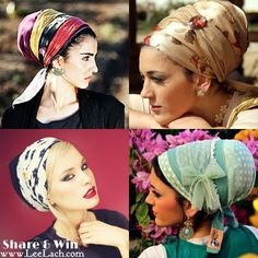 Watch this video on how to tie a tichel-headcovering. its just about practice:):)