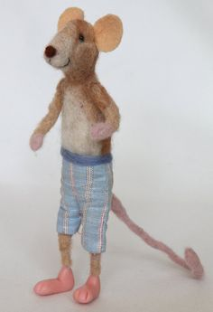Barley needle felted mouse sculpture collectable by TuscanLiberty, £23.00