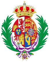 Coat of arms for Victoria Eugenie (as Queen of Spain)
