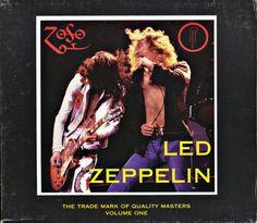 5 disc slip-cased set of the classic original Trademark of Quality label's Zeppelin bootlegs.