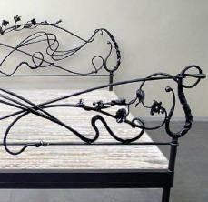 Wrought iron bed...very tim burton circa the nightmare before christmas...love
