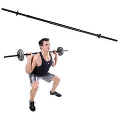 Build your muscles with this Gold\'s Gym Weight Lifting Bar. The exercise weight bar is made of solid steel and has a black oxide finish for durability. It lets you perform a number of workouts including arm, chest, back, leg and core exercises. Weight Lifting Bar, Weight Lifting Motivation, Weight Lifting Workouts, Gym Workouts, Bar Workout, Barbell Weights, Gym Weights, Weight Set, Weight Loss