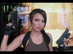 Video Game Lara Croft ( Tomb Raider) Make-up Tutorial (Promise Phan) Lara Croft Cosplay, Lara Croft Tomb, Cool Halloween Makeup, Halloween Cosplay, Halloween Costumes, Beauty Makeup, Hair Makeup, Hair Beauty, Lara Croft: Tomb Raider
