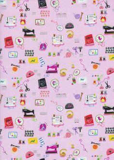 Timeless Treasures Fabric  Mini Sewing by BelloBerryFabricShop, $8.25