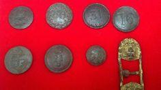 "British Regiment buttons and a Royal Provincials ""RP"" button"