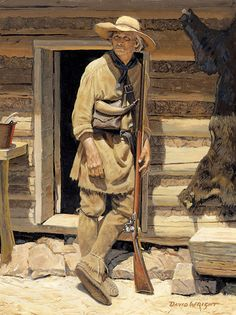'Before The Long Hunt' by David Wright American Stock, Early American, Mountain Man, Longhunter, Fur Trade, American Frontier, Colonial America, Historical Art, Le Far West