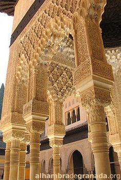 One of my favorite places is Granada, Spain. And, 'The Alhambra' in Granada, Spain is a must see for anyone visiting Spain! Granada Andalucia, Granada Spain, Andalusia Spain, Islamic Architecture, Architecture Details, Riad Rabat, Places To Travel, Places To Go, Alhambra Spain