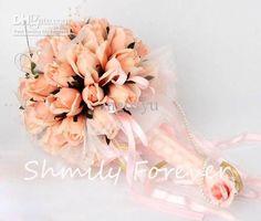 Wholesale Hot sale Orange Flower Bouquet,Wedding Bouquet,Rose Artificial Flowr Bouquets for wedding, Free shipping, $29.12-35.84/Piece | DHgate