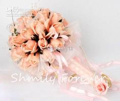 Wholesale Hot sale Orange Flower Bouquet,Wedding Bouquet,Rose Artificial Flowr Bouquets for wedding, Free shipping, $29.12-35.84/Piece | DHgate