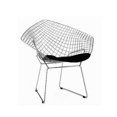 Diamond tuoli, kromi/musta nahka pehmuste