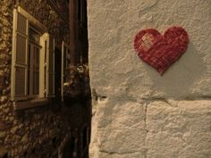 Love is built by many small different pieces.. like a tiled heart.. indeed! @ Alfama . Lisbon