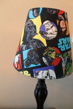 Star Wars Lamp Shade with Vader Han Leia by TheCraftyAdventurer, $20.00
