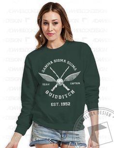 Gamma Sigma Sigma - Quidditch Crew Neck Sweatshirt by ABD BlockBuy! Less than $20 each plus shipping   Adam Block Design   Custom Greek Apparel & Sorority Clothes  www.adamblockdesign.com