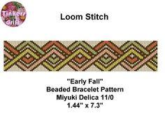 Stitch Type: Loom Bead Type: Miyuki Delica Bead Size: 11/0 Colours: 5 Bead…