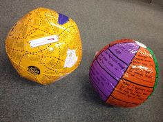 Beach Balls with Review Questions