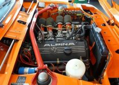 1974 BMW 2002 tii Touring Alpina Engine