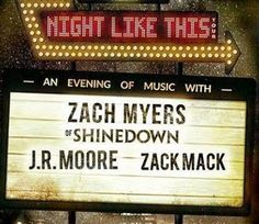 Zach Myers Fan Page: Zach Myers, Zack Mack and J.R. Moore - Night Like This Tour