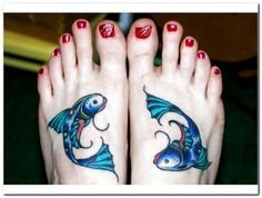 Fish on the feet ink
