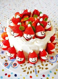 2013 Christmas food craft, Cute Cream and strawberry craft for 2013 Christmas, Christmas cakes craft for 2013