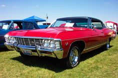 '67 Chevy Impala - RED I owned one exactly like this. Best car I ever owned.