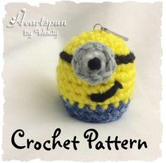 CROCHET PATTERN 2 for Minion EOS Lip Balm by HeartspunByWendy