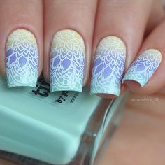 """Picture Polish """"Mellow Yellow"""" & """"Wisteria"""" & """"Tiffany"""" & stamping…"""