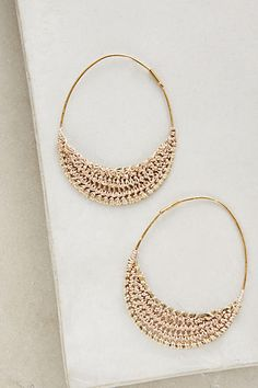 Violacea Hoops - anthropologie.com