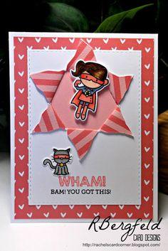 Rachel's Card Corner: You Got This! - Mama Elephant, Tiny Heroes - Pretty Pink Posh, Peekaboo die
