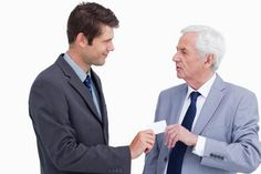When you receive a business card, do you immediately put it in your pocket?  Good business etiquette includes looking at the card, perhaps commenting on it, and then putting it in a safe place.