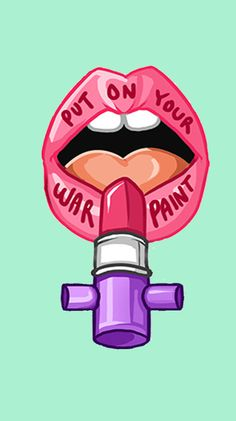 Find images and videos about lipstick, girl power and feminism on We Heart It - the app to get lost in what you love. Planner Stickers, Notebook Stickers, Printable Stickers, Badass, Girl Power Tattoo, Fashion Models, Colin Mcrae, Feminist Art, War Paint
