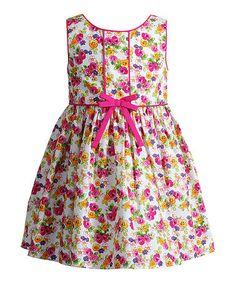 Look at this #zulilyfind! Pink Floral A-Line Dress - Infant #zulilyfinds