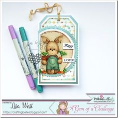 Bunny with Carrots from Pink Gem Designs @ Polkadoodles Pink Cards, Baby Cards, Southern Girls, Spectrum Noir, Digi Stamps, Copic, Happy Friday, Colouring, I Card