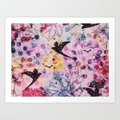 New Art Prints by ALEXANDER BLOOMS​ available in the Society6​ shop! • Original artwork by our leading bloomette, Michelle Alexander​ • #abstract #floral #art  #painting #illustration #artwork #print #wallart #birds #nature • #livingfloral