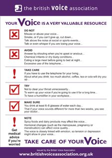 Take care of your voice (leaflet cover)