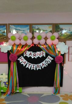 Karne hatırası Balloon Decorations, Birthday Party Decorations, Baby 1st Birthday, Birthday Bash, Diy And Crafts, Crafts For Kids, Diy Y Manualidades, Islam For Kids, Diy Paper