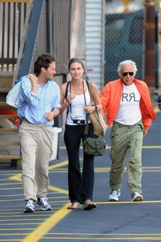 Ralph Lauren Photo - Ralph Lauren and Family Board a Helicopter