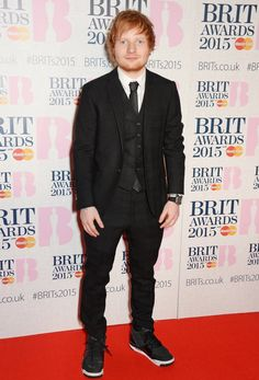 Pin for Later: Seht alle Stars bei den BRIT Awards! Ed Sheeran
