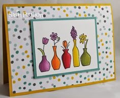 Stampin' Sarah!: Vivid Vases and Stampin' Up! Blendabilities. Available to purchase at: www.stampinsarah.stampinup.net