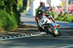 Bruce Anstey at the 2016 Isle of Man TT aboard a Honda RC213V-S