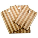 #6: Chefs Limited 3 Piece Bamboo Cutting Board Set with Handle
