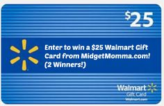 Enter to win a $25 Walmart gift card! 2 Winners! Ends 10/30!